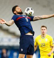 Olivier Giroud i franska landslaget. CHRISTIAN HARTMANN / BILDBYRÅN