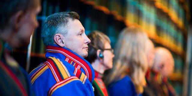 Sametingets styrelseordförande Per-Olof Nutti. Robert Henriksson/TT / TT NYHETSBYRÅN