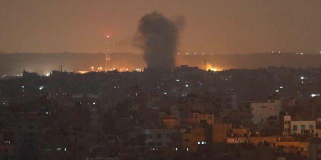 Explosioner i Gaza.  Adel Hana / TT NYHETSBYRÅN