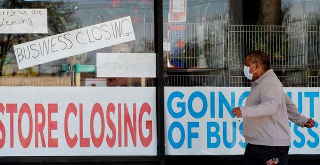 Illustrationsbild: En butik i konkurs i Niles, Illinois.  Nam Y. Huh / TT NYHETSBYRÅN