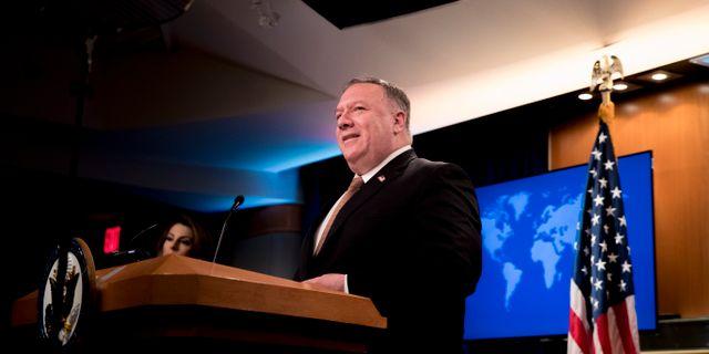 USA:s utrikesminister Mike Pompeo.  Andrew Harnik / TT NYHETSBYRÅN