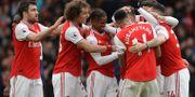 Arsenal under lördagens match mot West Ham. Matt Dunham / TT NYHETSBYRÅN