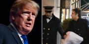 Trump och Michael Cohen TT