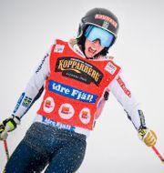 Skicrosstjärnan Sandra Näslund. Pontus Lundahl/TT / TT NYHETSBYRÅN