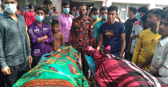 Två av offren.  Md Jahangir Alom / TT NYHETSBYRÅN