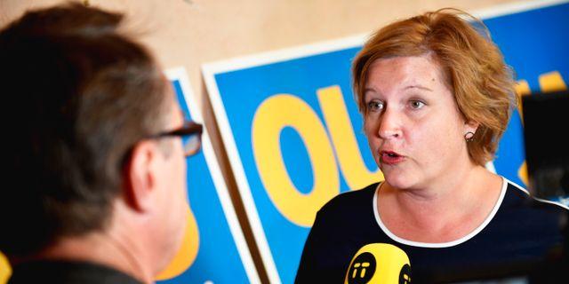 Liberalernas toppkandidaten Karin Karlsbro (L). Naina Helén Jåma/TT / TT NYHETSBYRÅN
