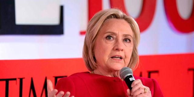 Hillary Clinton vid Time-galan i april. DON EMMERT / AFP