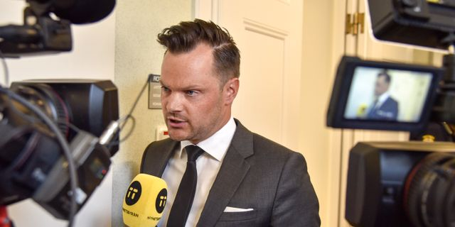 Adam Marttinen (SD). Ari Luostarinen / TT NYHETSBYRÅN