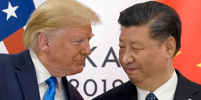 Trump och Xi. Arkivbild. Susan Walsh / TT NYHETSBYRÅN
