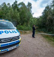 Avspärrning i Markaryd. Johan Nilsson/TT / TT NYHETSBYRÅN