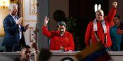 Nicolás Maduro med Kubas president Miguel Diaz-Canel.  Ariana Cubillos / TT NYHETSBYRÅN/ NTB Scanpix