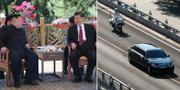 Kim Jong-Un och Xi Jinping vid ett tidigare tillfälle i år.  TT