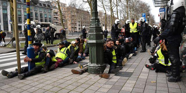 400 gripna vid Gula västar-demonstration i Bryssel - Omni 70365dca35821