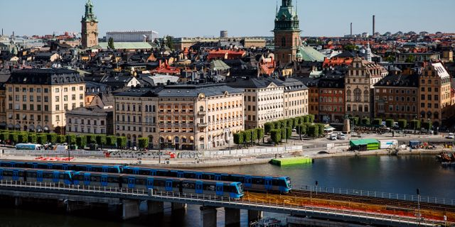 Tunnelbanetåg i Gamla stan. Emma-Sofia Olsson/SvD/TT / TT NYHETSBYRÅN