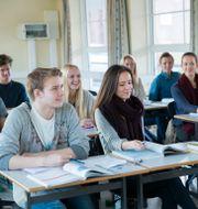 Illustrationsbild. Elever på en gymnasieskola.  Roald, Berit / TT NYHETSBYRÅN