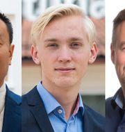 Stefan Westerberg, Mattias Askerson (M) och Daniel Danielsson (C).
