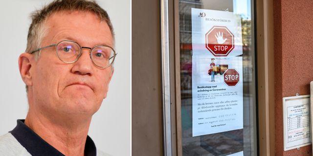 Anders Tegnell/besöksförbud på äldreboende. TT