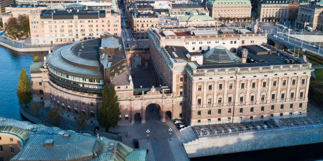 Riksdagshuset i Stockholm. Arkivbild. Fredrik Sandberg/TT / TT NYHETSBYRÅN