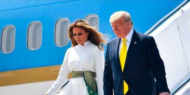Donald Trump och hustrun Melania Trump.  MANDEL NGAN / TT NYHETSBYRÅN
