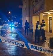 Avspärrningarna i Gislaved.  Dejana Pasic/P4 Jönköping