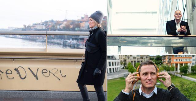 Per Hellberg, vd Catena Media och Storytels vd Jonas Tellander. TT