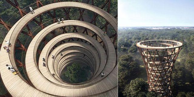 Tornet är handikappsanpassat, vilket gör att fler har möjligheten att njuta av den fantastiska utsikten på toppen. Effekt Arkitekter