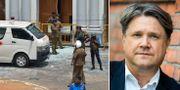 Bild från en av attackplatserna / Hans Brun.  TT