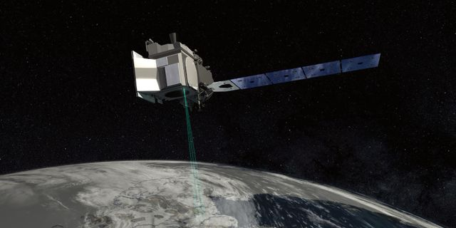 Konceptbild från Nasa hur Icesat-2 kommer att se ut AFP PHOTO / NASA Goddard Space Flight Center