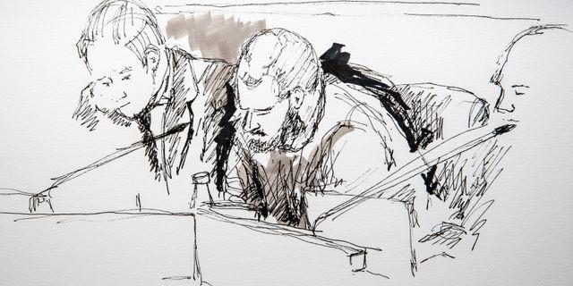 Illustration från tingsrätten. Ingela Landström/TT / TT NYHETSBYRÅN
