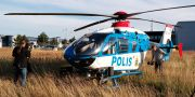 Polisens helikopter i Malmö. Erland Vinberg/TT / TT NYHETSBYRÅN