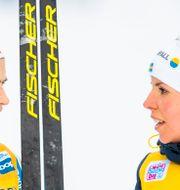 Therese Johaug och Charlotte Kalla. JON OLAV NESVOLD / BILDBYR N NORWAY