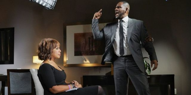 Gayle King och R Kelly CBS