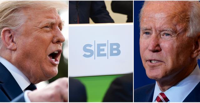 Donald Trump och Joe Biden. Sandberg/TT / TT