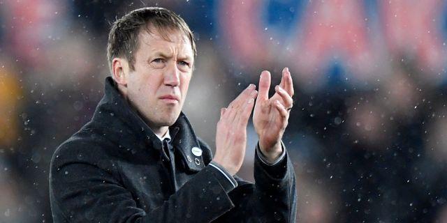Potter efter kvartsfinalen i FA-cupen mot Manchester City.  TOBY MELVILLE / BILDBYRÅN