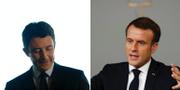 Benjamin Griveaux och Emmanuel Macron. TT