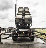 Patriot-system under försvarsövningen Aurora i september i år. TT