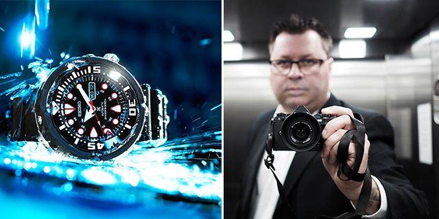 Som fotograf, hobbydykare och klockentusiast lägger Håvard mycket tid på att leka med ljus, perspektiv  och vatten när han fotograferar sina klockor. Håvard Flaatteb