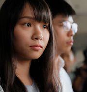 Agnes Chow och Joshua Wong. Kin Cheung / TT NYHETSBYRÅN