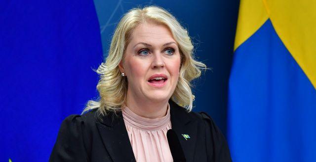 Socialminister Lena Hallengren (S).  Jonas Ekströmer/TT / TT NYHETSBYRÅN