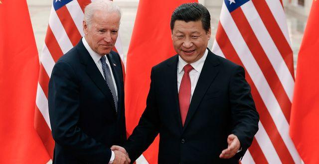 Joe Biden och Xi Jinping vid ett tidigare tillfälle. Lintao Zhang / TT NYHETSBYRÅN