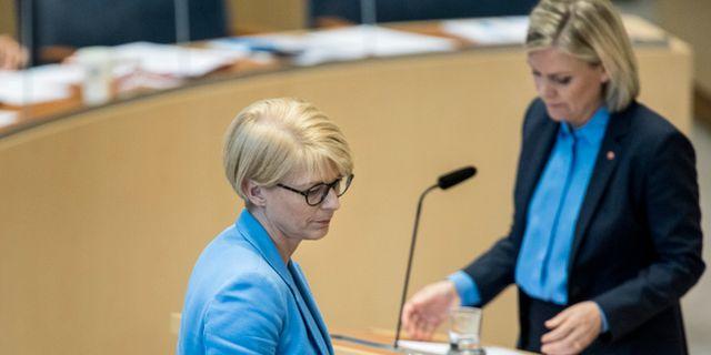 M:s Elisabeth Svantesson och S Magdalena Andersson. Christine Olsson/TT / TT NYHETSBYRÅN