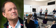 Björn Olsen/Presskonferens med Folkhälsomyndigheten.  TT