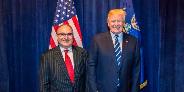 George Nader och Donald Trump. TT NYHETSBYRÅN