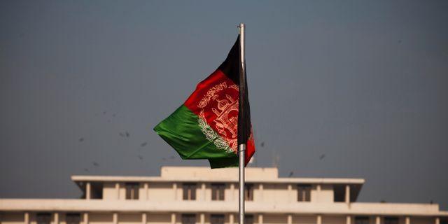 Afghanistans flagga. B.K. Bangash / TT NYHETSBYRÅN