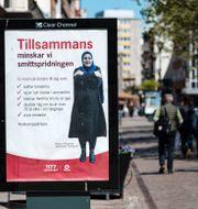 Arkivbild: Informationskampanj från 1177 och Region Skåne om att minska smittspridningen av covid-19 Johan Nilsson/TT / TT NYHETSBYRÅN