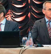 Alex Schneiter och Ian Lundin. Fredrik Sandberg/TT / TT NYHETSBYRÅN