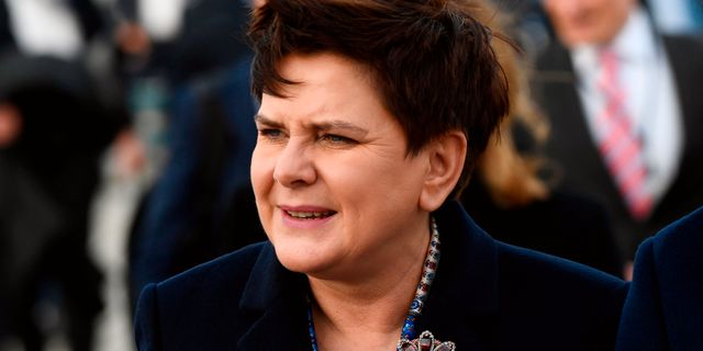 Beata Szydlo. JONATHAN NACKSTRAND / AFP