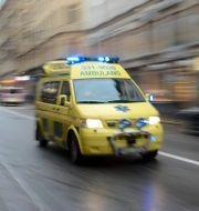 En ambulanstransport. Arkivbild.  Bertil Enevåg Ericson / TT / TT NYHETSBYRÅN