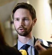 MP:s migrationspolitiska talesperson Rasmus Ling.  TT