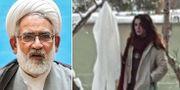 Mohammad Jafar Montazeri och Narges Hosseini. Wikimedia och Twitter